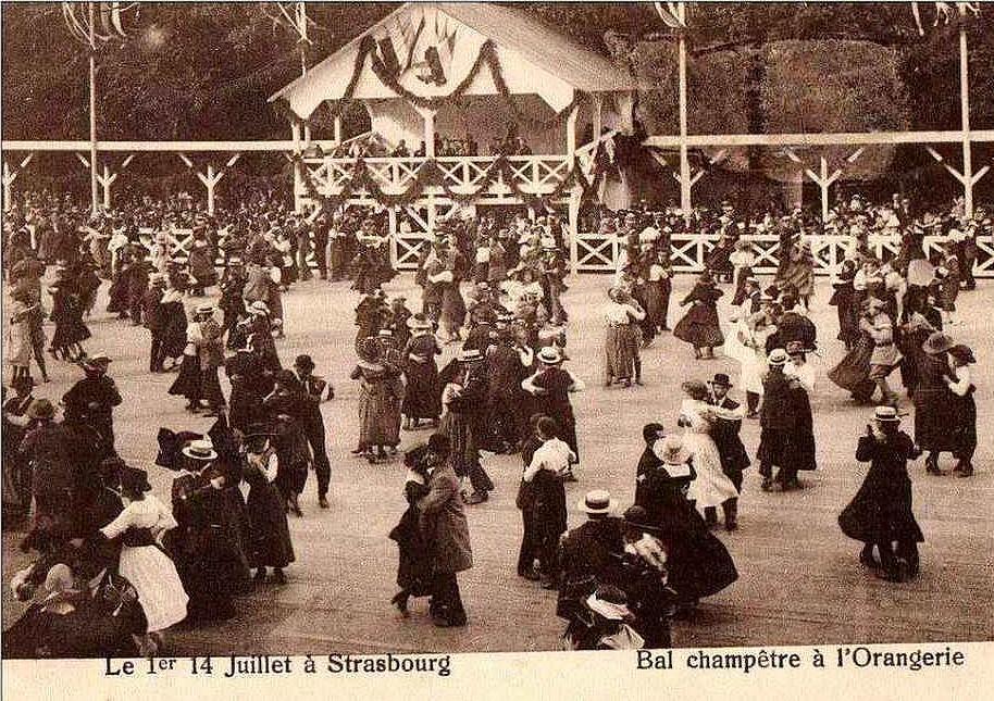 Strasbourg - Bal champêtre du 14 juillet à l'Orangerie