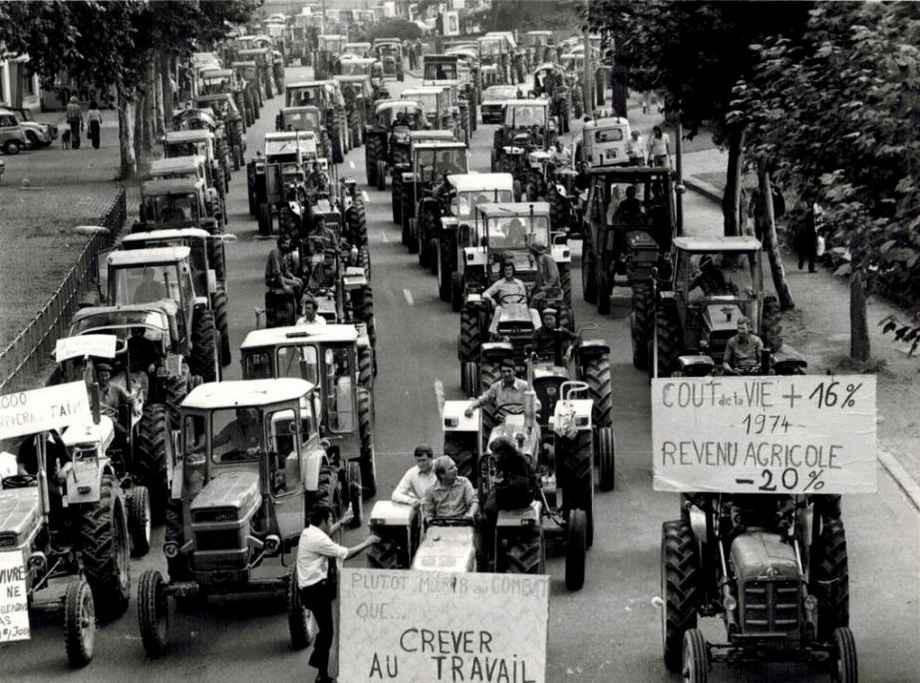 Strasbourg - Manifestation des agriculteurs en 1974