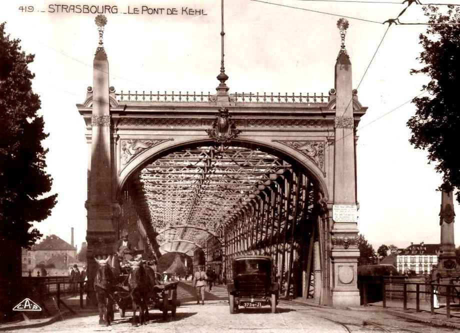 Strasbourg - Pont de Kehl en 1930