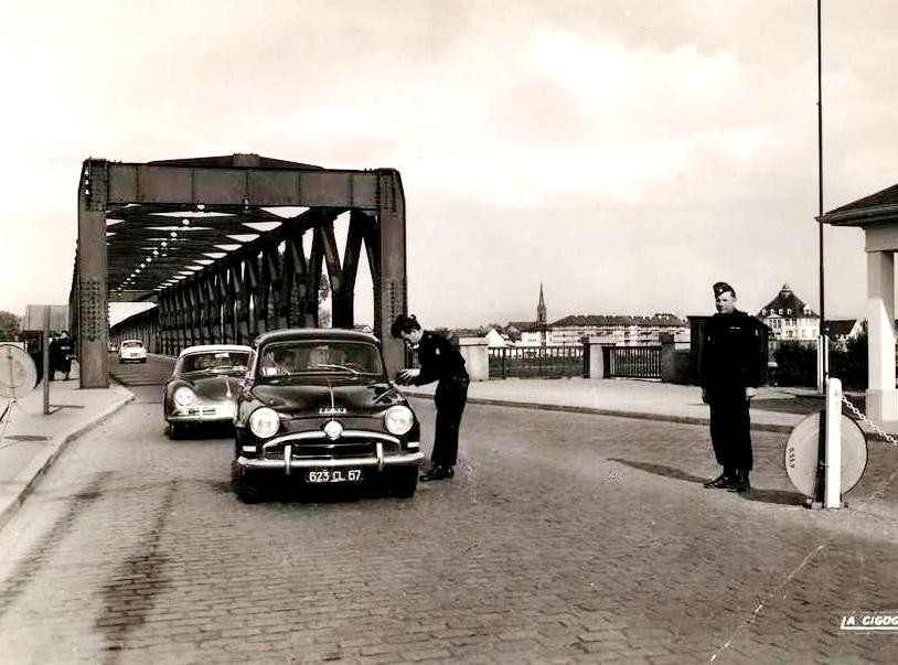 Strasbourg - Pont de Kehl en 1950